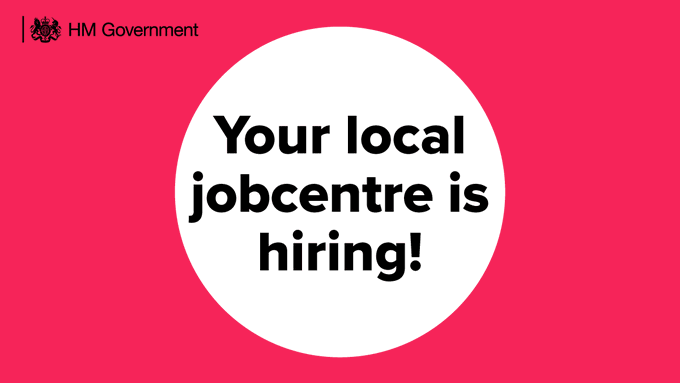 Your local jobcentre is hiring! Make a difference and apply to be a Work Coach today.
