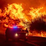 Image for the Tweet beginning: The California wildfires in pictures