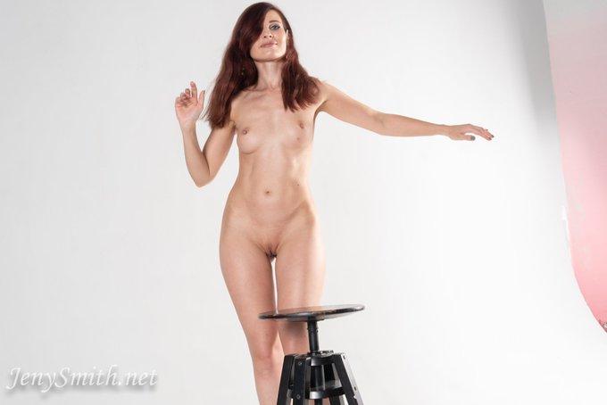 2 pic. Jeny Smith Naked or bottomless?  #jenysmith #jenysmithphotos #nakedchallenge #bottomless  This
