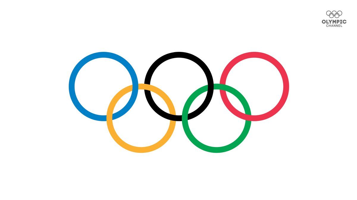 "The story of the Olympic rings, explained. (Thread) 1/ There are five interlaced rings, each one a different colour – blue, yellow, black, green and red on a white backdrop. These are known as the ""Olympic rings""."