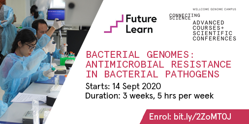 ALERT! Another opportunity to join practitioners and researchers from all over the world for the @FutureLearn FREE online course - #FLBacterialGenomesAMR. 🖥️🦠  🗓️Starts Monday 14 Sept: https://t.co/Uv5j3oExHP #AMR @Wellcome_AMR @UKAMREnvoy https://t.co/YXFheWDNsn