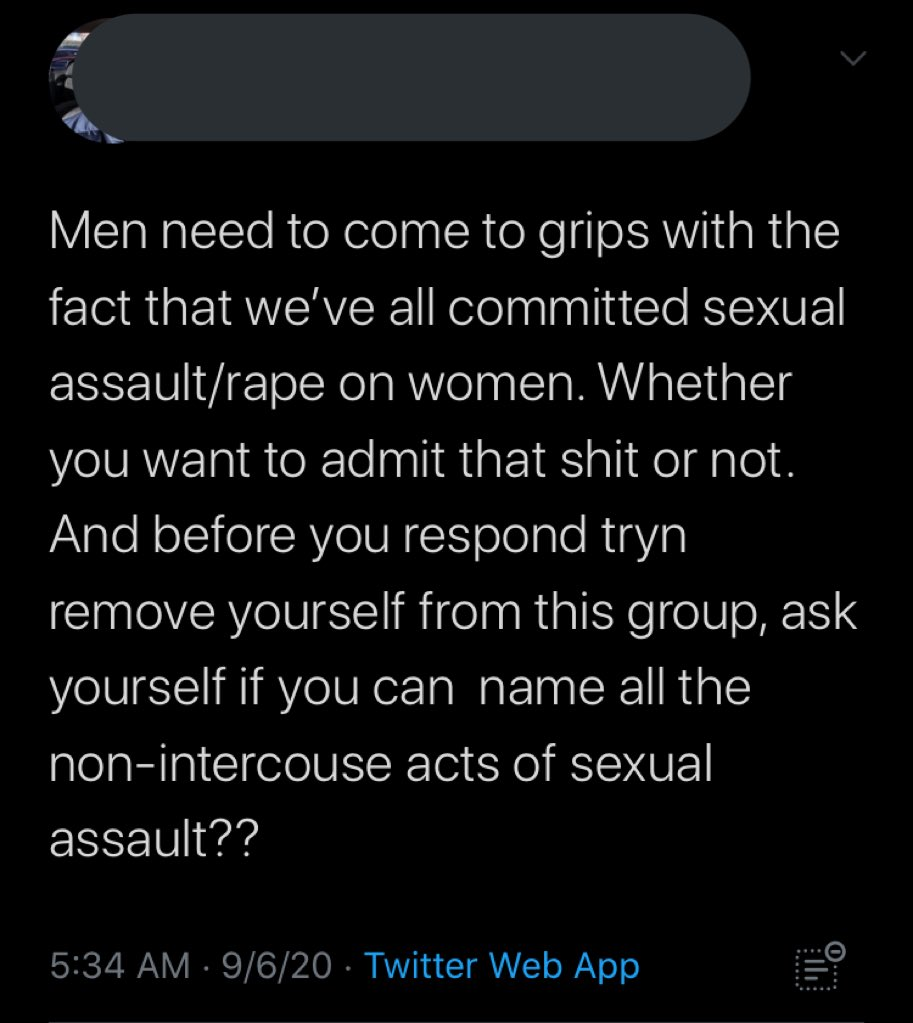 rt if ur a man that has indeed never committed sexual assault/rape https://t.co/ESN9e9n1OU