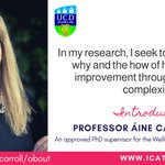 Image for the Tweet beginning: Introducing ICAT supervisor @ainemcarroll Prof