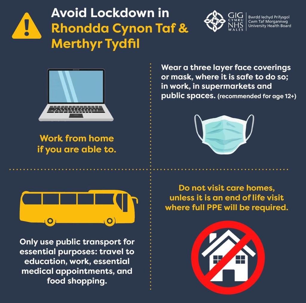 Due to the rise of positive cases across #Ponty & #RCT, the @RCTCouncil leaders, @MickAntoniw1 & I are asking for your help to prevent the spread of the #COVID & the need for a future local lockdown  I'd like to encourage everyone to follow the new guidance with immediate effect. https://t.co/71fEbgEpw2