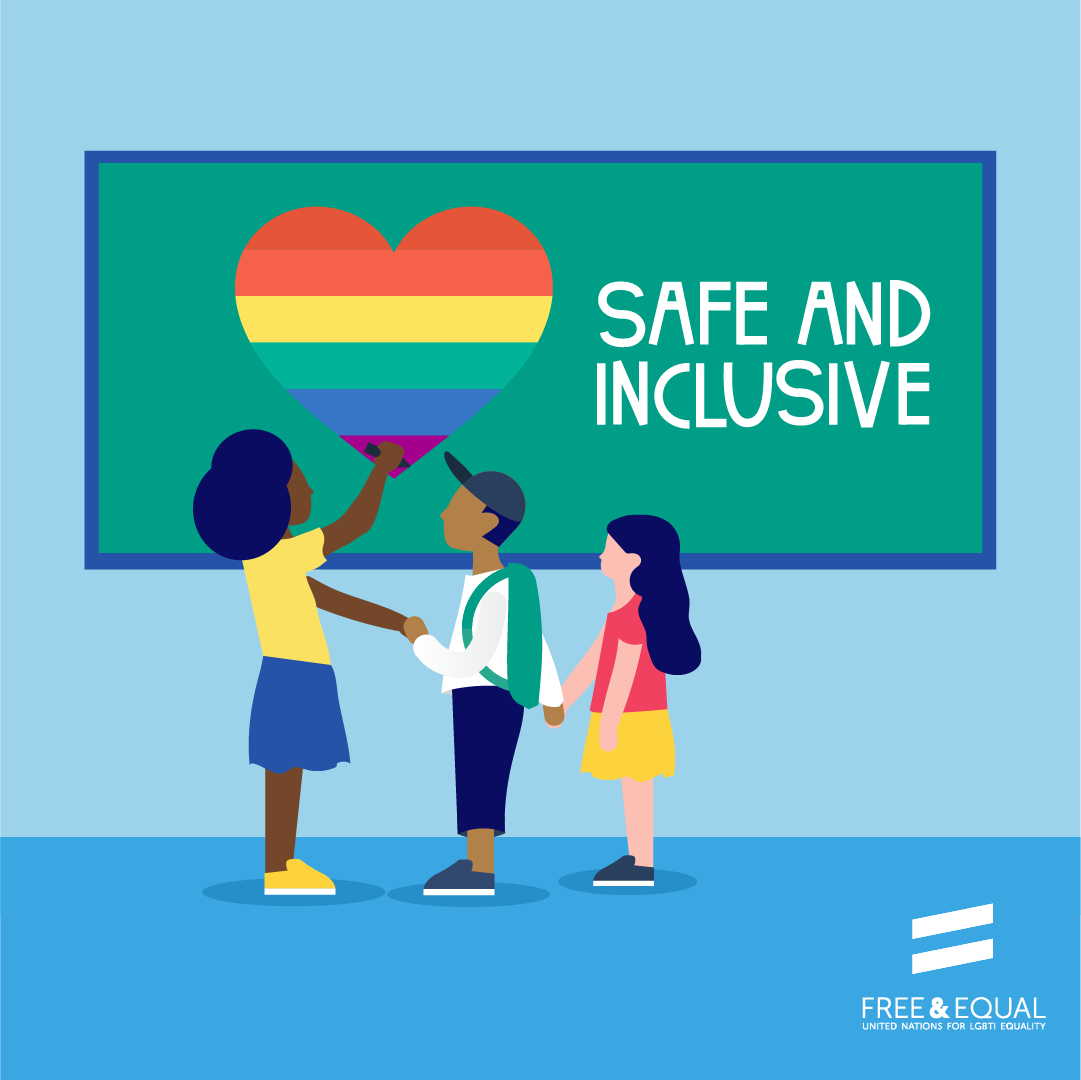 All kids have the right to feel safe at school  - #LGBTI kids included!  #EndBullying #StandUp4HumanRights https://t.co/VWcdsUokZZ