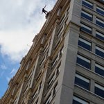 Image for the Tweet beginning: Congratulations to all who rappelled