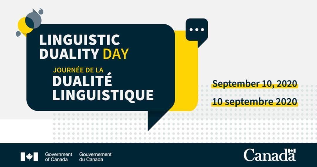 Bonne #JournéeDeLaDualitéLinguistique! Nous nous faisons un devoir de promouvoir les fondements de la Loi sur les langues officielles.Offrir un service bilingue à travers le Canada est l'un des moyens par lesquels nous contribuons à préserver nos langues officielles.🗣#JDL2020LDD https://t.co/VehZyxa4O6
