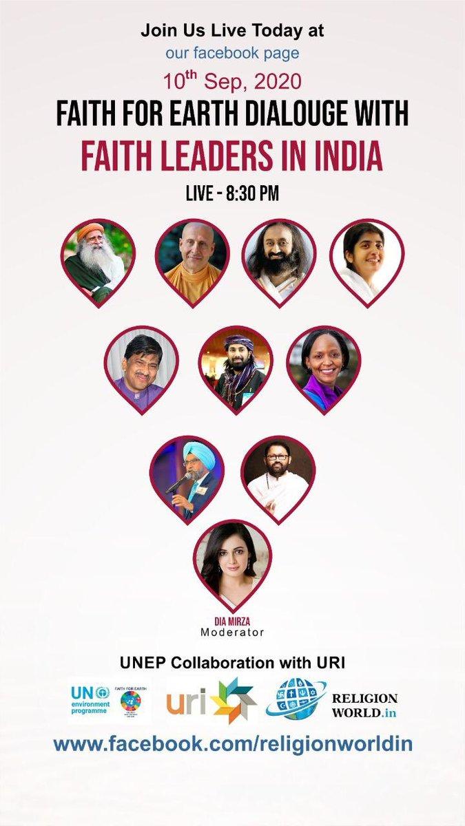 Listen to Gurudev @SriSri Ji and other faith leaders NOW : https://t.co/jK20xMaGJ3 https://t.co/d5GbCwJUlz