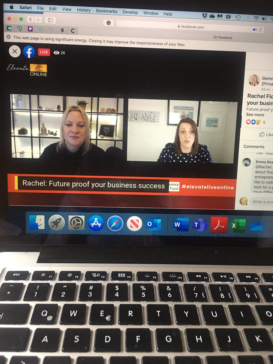 The brilliant #RachelFlower, one of the founders of #ExcludedUK taking Q&A following her session on the legals to be considered with a business @GemmaWent #ElevateLiveOnline https://t.co/vqXOov9bUQ