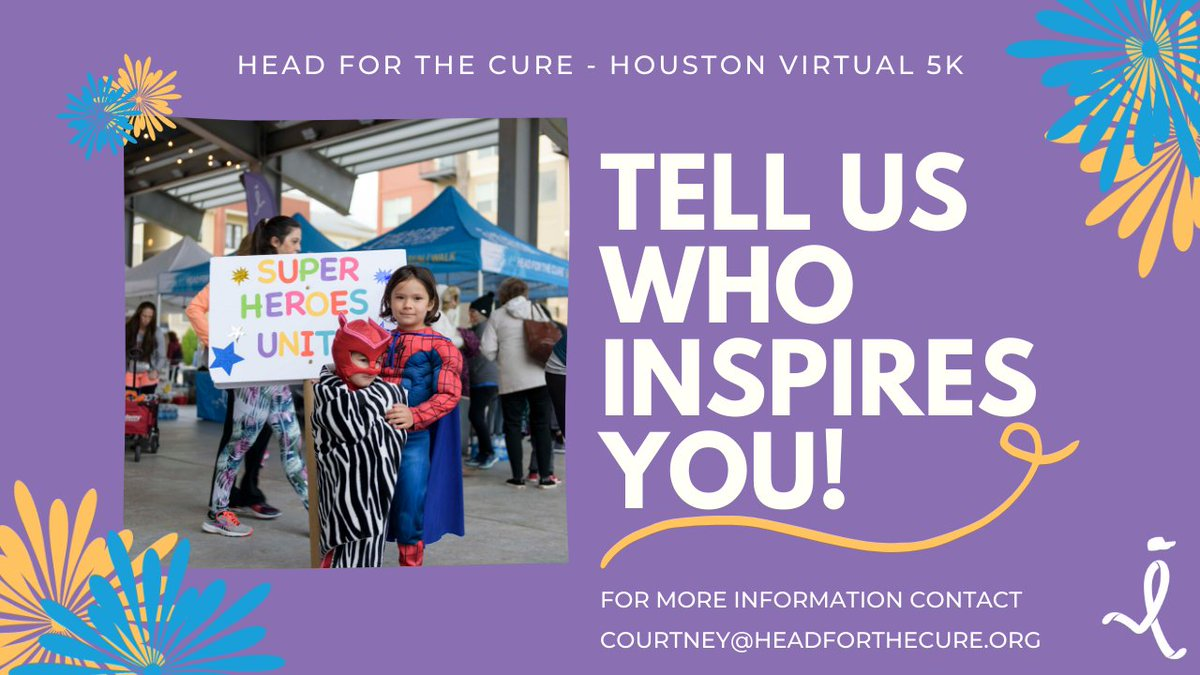 #Houston - Celebrate your brain cancer hero by sending in a written or video testimonial about why you participate in Head for the Cure! These personal stories will be shared during our Virtual 5K on Saturday, October 10th! Learn more at https://t.co/Q5Mm3QTdG7. @MDAndersonNews https://t.co/hAZC4YvpQI