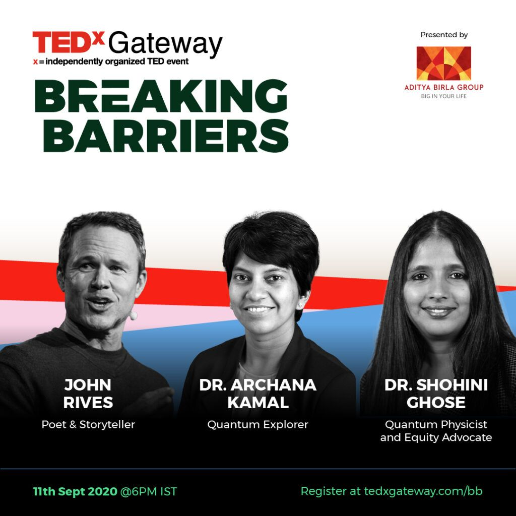 Tune in on Fri, Sept. 11 at 8:30am: @UML_Sciences Prof. Archana Kamal, expert on quantum information technologies, will co-present on the next @TEDxGateway Breaking Barriers webinar about the the future of #tech and the #quantum revolution. Register: https://t.co/KK66ydMkiQ https://t.co/k9evI5ckzV