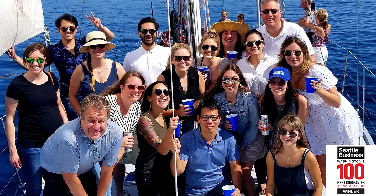 Collaborative environment, unique company culture and 1:1s with company leadership and founders are just few reasons our Seattle office was deemed No. 2 in the Top 100 Best Companies to Work For by (tag publication: SeattleBusiness). Read the full article: https://t.co/o4YPkOs96T https://t.co/Z8LHjPGIqe