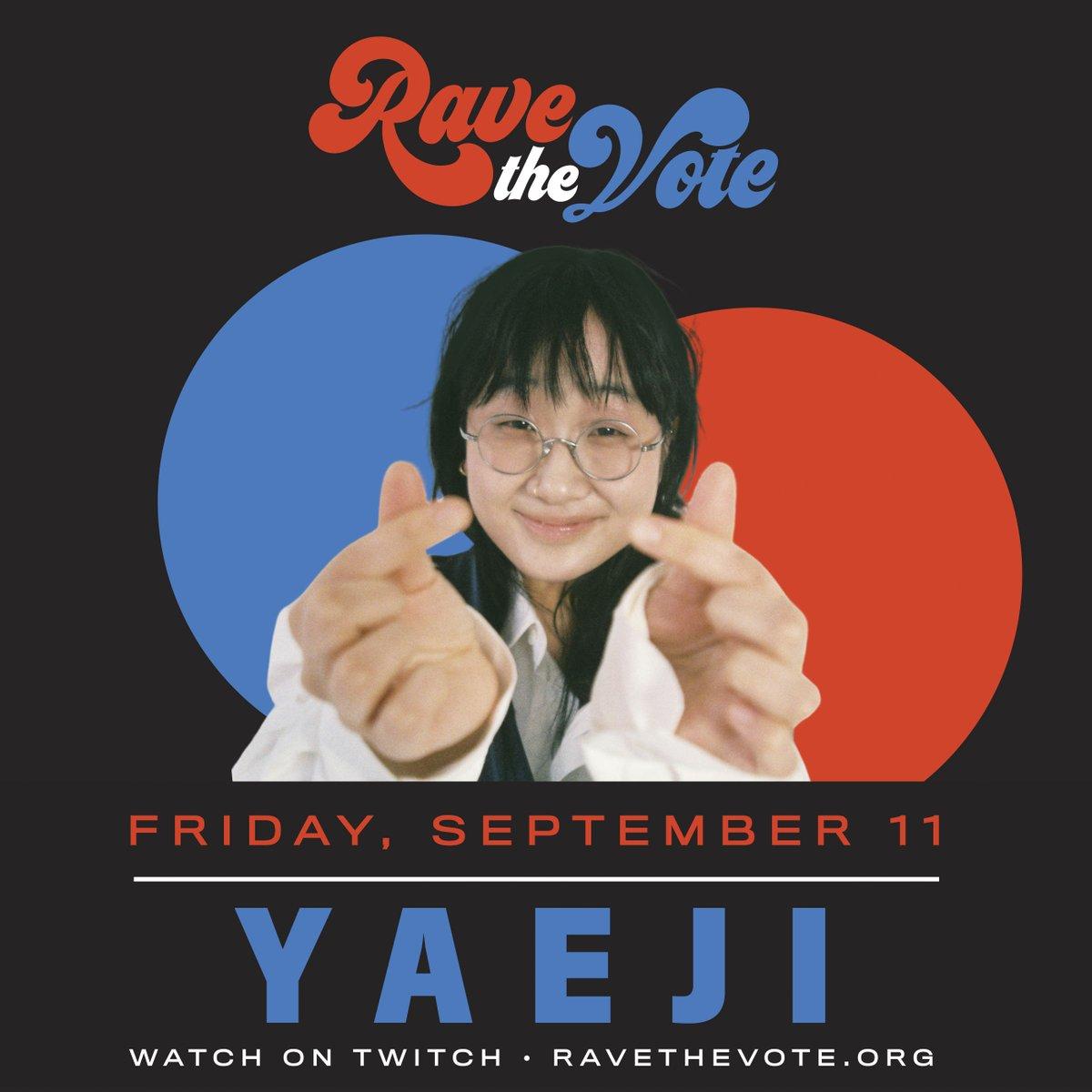 Catch @kraeji on @ravethevote tomorrow, Friday 11th September  🤩 https://t.co/rl9GoFPrBZ https://t.co/wqCTqa8W6M