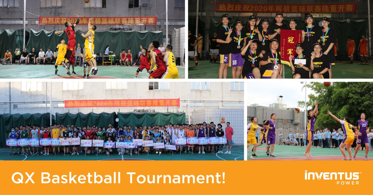 Employee engagement is an important part of our company culture. With the COVID-19 situation improving in #Qingxi, China, our QX site was able to host its annual basketball tournament. Employees were excited to participate in this fun, team-building event! #InventusPowerLife https://t.co/Fc9Q3B91hy