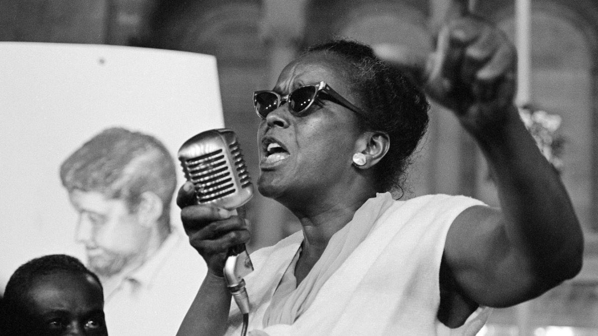 """""""Until the killing of black men, black mothers' sons, becomes as important to the rest of the country as the killing of a white mother's son, we who believe in freedom cannot rest until this happens."""" —Ella Baker https://t.co/ddnTRhTmW2"""