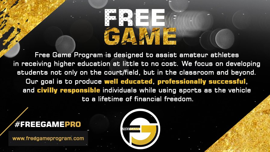 I'd like to officially announce my non-profit organization @freegameprogram 🙌🏽 The past few months have shown us all that the ball can stop bouncing at any time. I want to do my part in preparing our young student athletes for LIFE! I'd appreciate any support 🖤 https://t.co/WDufhpXCJF