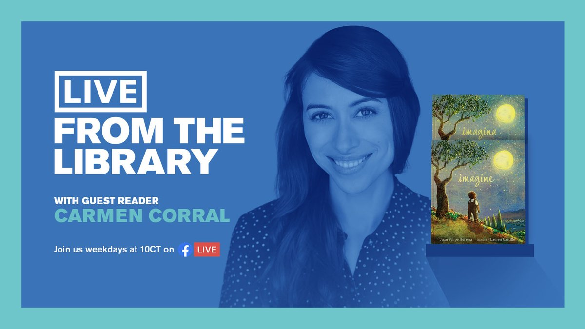 Avondale native and actress/dancer Carmen Corral joins #LiveFromTheLibrary tomorrow for a beautiful bilingual  story time. She'll be reading Imagine/Imangia by former US Poet Laureate @cilantroman so tune in to get inspired and brush up on your Spanish! https://t.co/l9w9rofEsP https://t.co/u73GLCqWSu