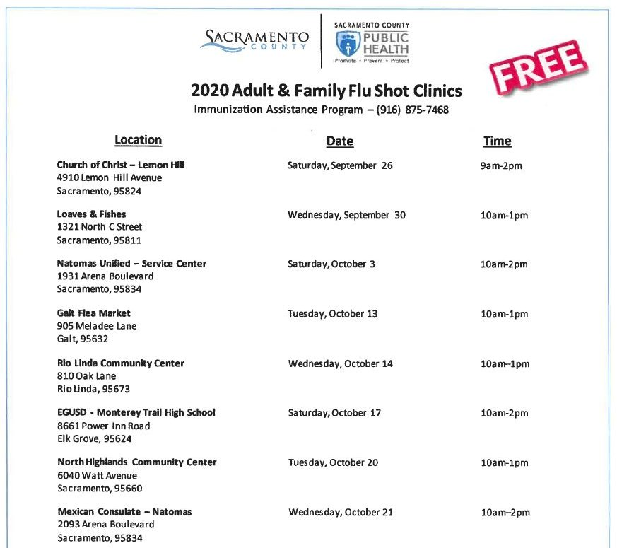 FREE FLU SHOTS occurring through Sept. 26 - Nov. 21  Learn More About the Flu HERE: https://t.co/16HpGtRgbS  #shrahousing #shrapio #lashelledozier #spz #sacramentopromisezone #flu #fluseason #flushot #free #vaccine #health #publichealth  #healthcare #fluvaccine #Saccounty https://t.co/nWUCIvARX6
