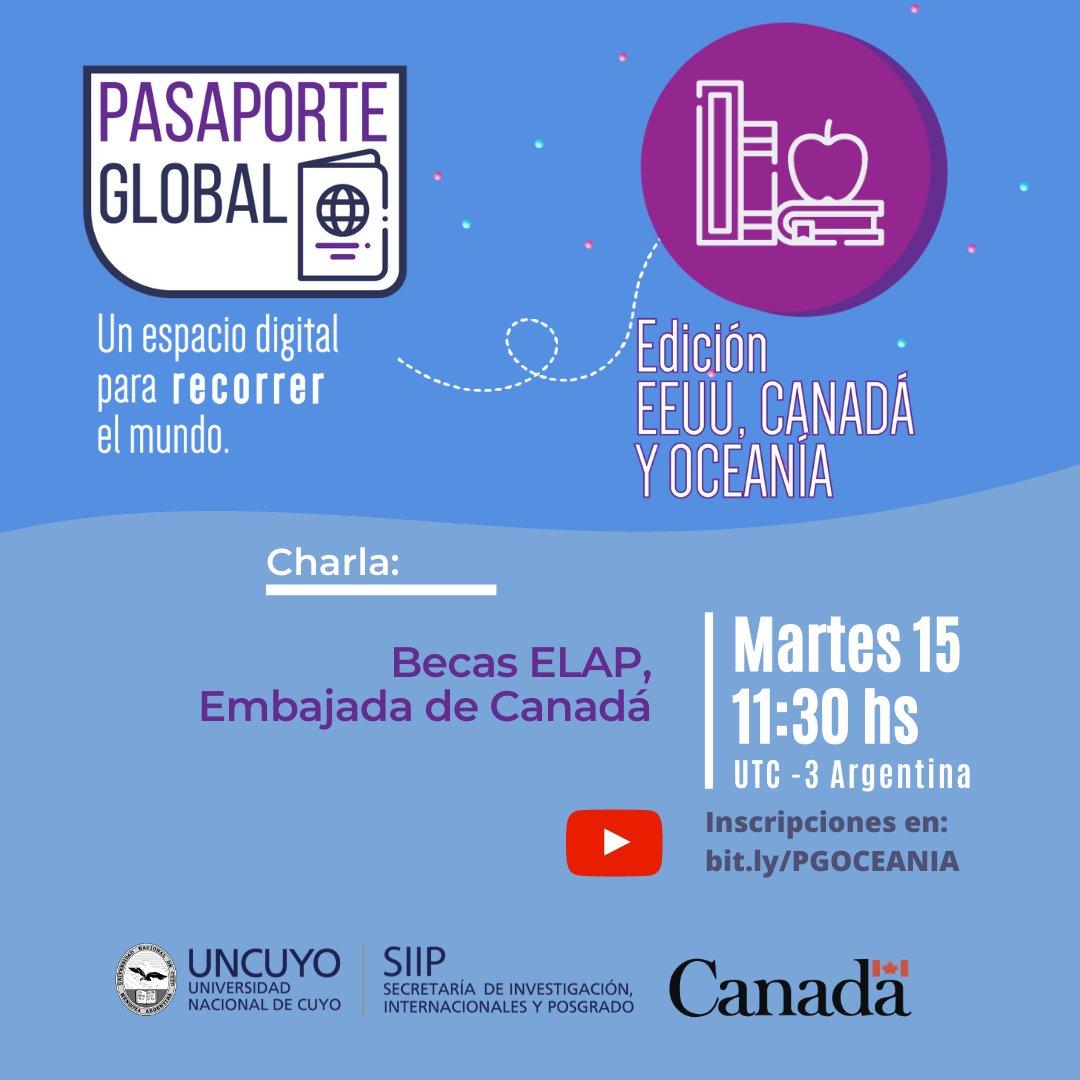 #Bourses 🇨🇦🇦🇷 Nous vous invitons à la conférence sur les bourses #PFLA où nous découvrirons l'expérience d'un étudiant de Mendoza qui est allé faire un échange à l'Université de Montréal. L'activité est gratuite (en Espagnol) avec inscription ici:👉https://t.co/1sf6sg1U3H https://t.co/2BvFvn5NKZ