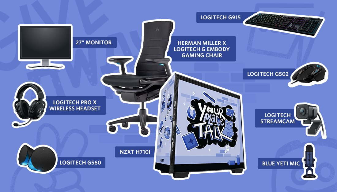 maybe you've gotta remote learn this year, which it turns out is kind of hard if you don't have a setup!  so we're giving 1 winner who likes & RTs all this: an NZXT computer + logitech gear + nice ergo chair  legal words:  #sweepstakes