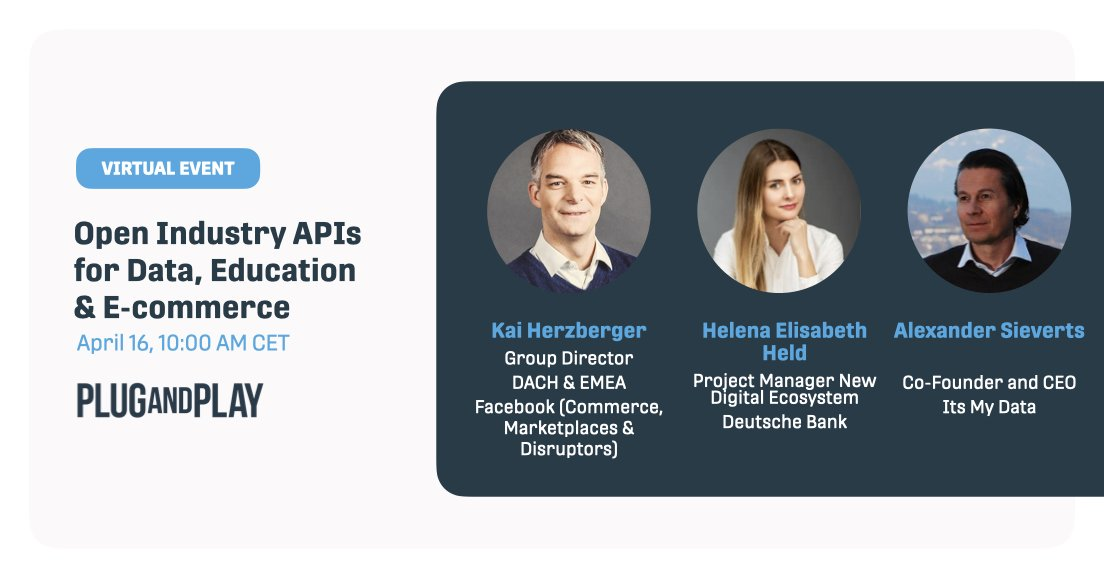 Just one week left! On September 16, we'll be throwing our second virtual networking event co-hosted by @DeutscheBank. We'll talk about the future of APIs in #edtech, #ecommerce and #data. Join the discussion!  Register now👉 https://t.co/KcIzZFXjYY https://t.co/0XP3kGQx99