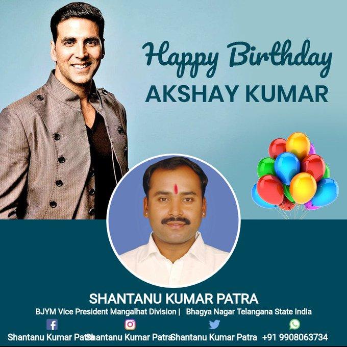 Wishing a happy birthday Akshay Kumar