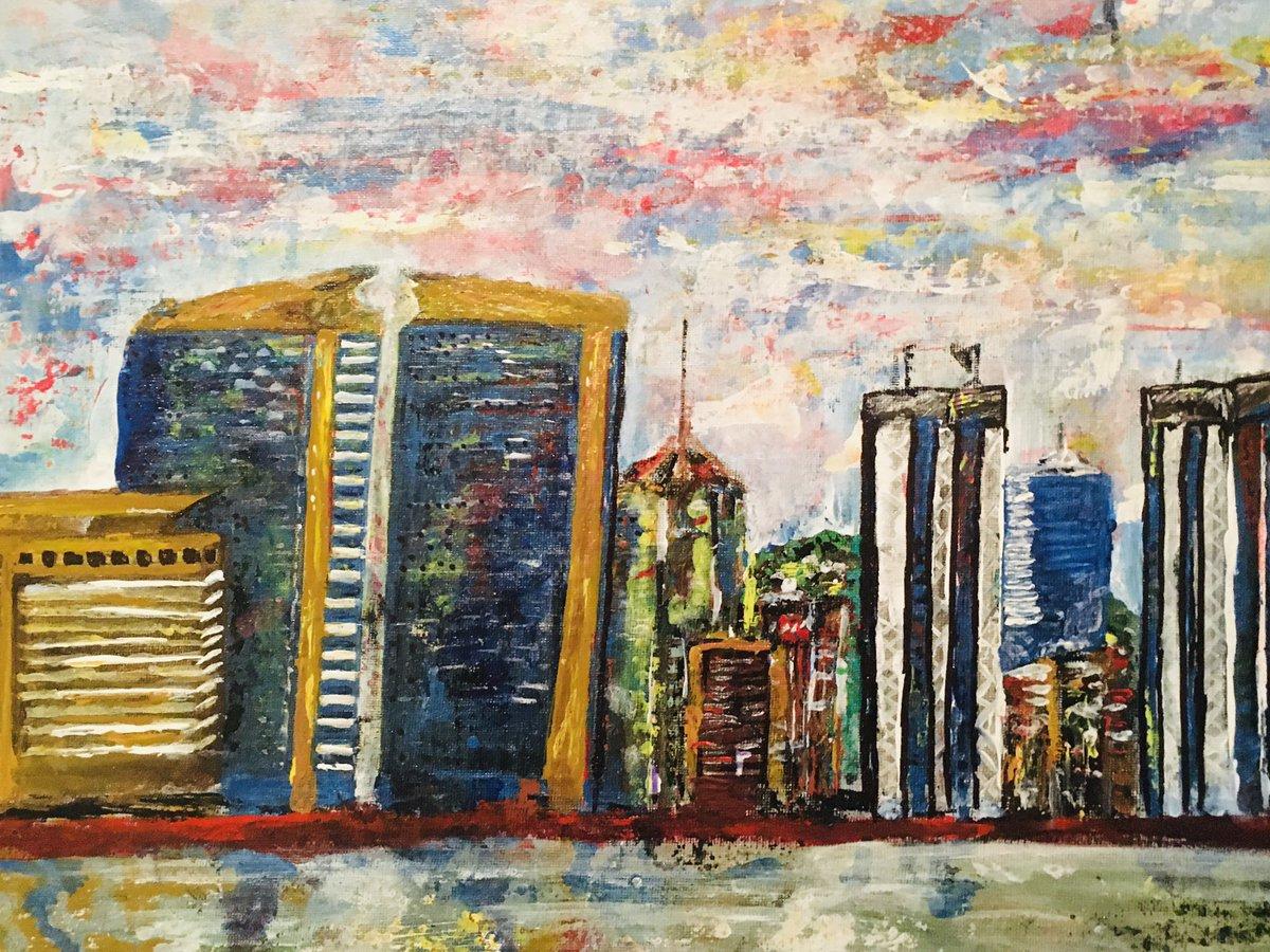 "A 14""x18"" canvas painting Inspired by Trinidad and Tobago 🇹🇹 #cityskyline #cityskylinepainting #portofspaintrinidad #hyattregency @hyatttrinidad #happyrepublicday #2020art #trinidadandtobago🇹🇹 #trinidadskyline #abstractart #abstractcityscapes #canvaspainting #buildingspainting https://t.co/cE0E8ibrkF"