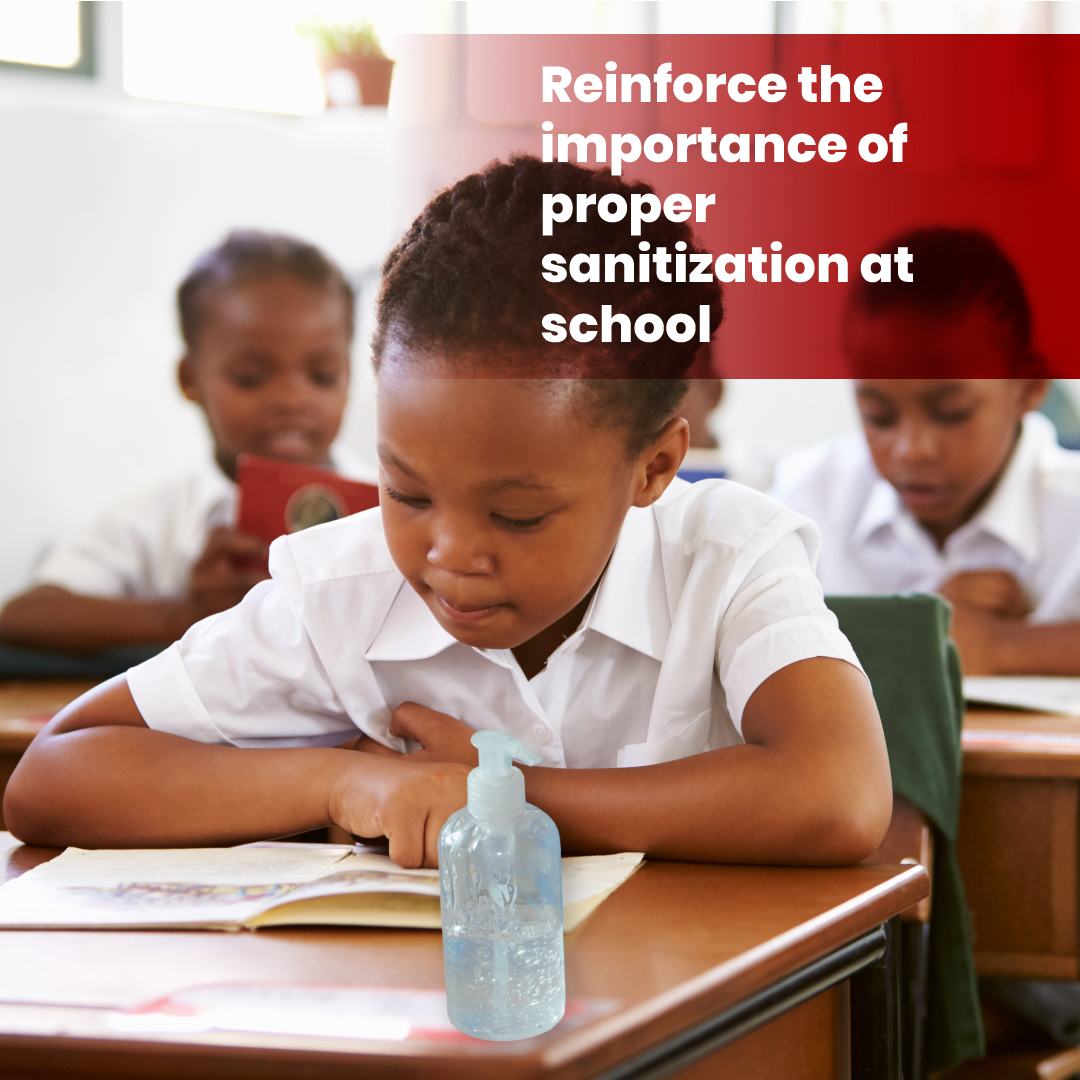 As children head back to school, it is important to frequently remind them of the sanitization practices which will help protect them, their teachers and classmates from COVID-19.  #BacktoSchoolwithGK #StaySafe #BeatCOVID19 #JaCOVID19 https://t.co/CDcSjuJHTV
