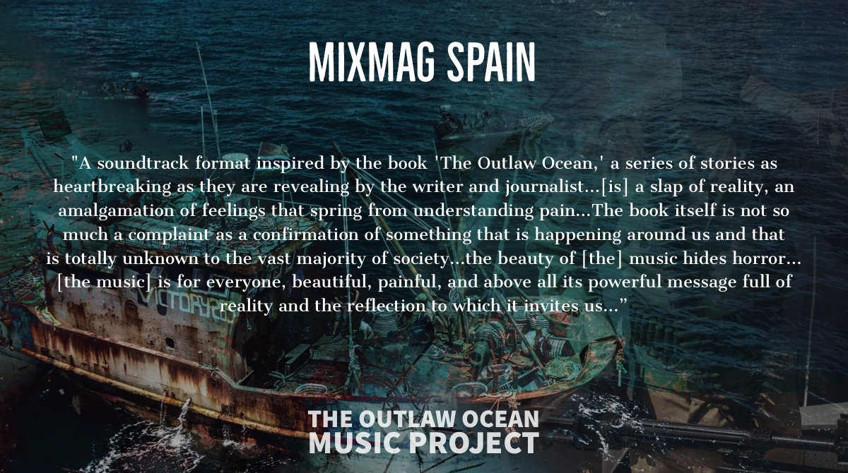 Thrilled to see this coverage of The Outlaw Ocean Music Project by @Mixmag Spain featuring a Q&A with the talented, @beGun_music.  Full story here: https://t.co/Q9pbTtBCXg https://t.co/NH3DY1LOyQ