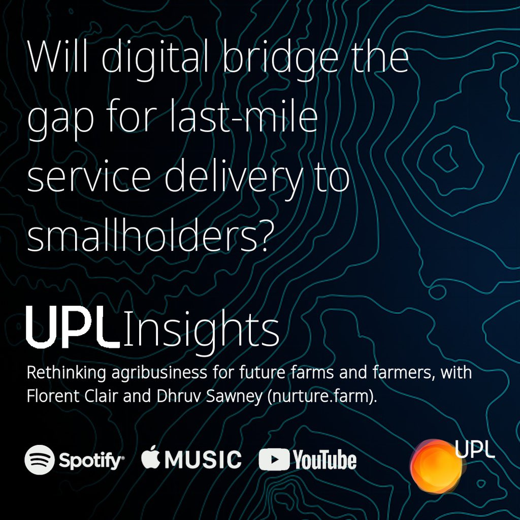 In this episode of #UPLInsights, we're looking at the changing role that agribusiness is playing to support farms & farmers around the world. Florent Clair is joined by Dhruv Sawney, Business Head and COO of https://t.co/GRk88dEImU. Spotify - https://t.co/197WKQ6ZN7 #OpenAg https://t.co/PeKhJL1gyN