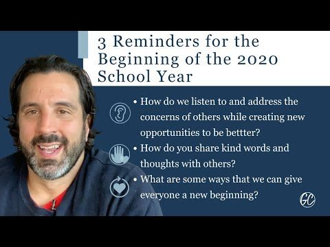 3 Reminders for the Beginning of the 2020 School Year - The #InnovatorsMindset Podcast buff.ly/3m4ZeB9