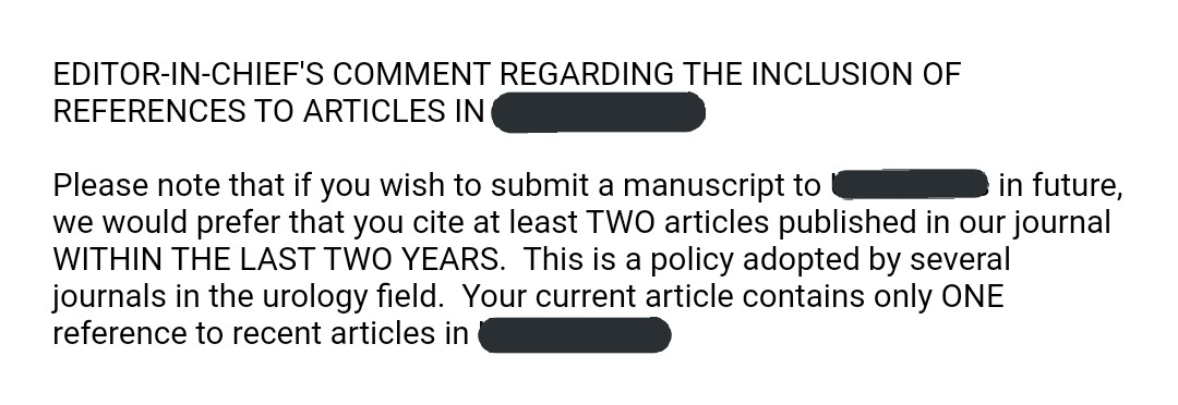 Interesting highlight after rejecting a paper I submitted.   Is this even legal/ethical?  🙄 https://t.co/xjN4TjTrs1