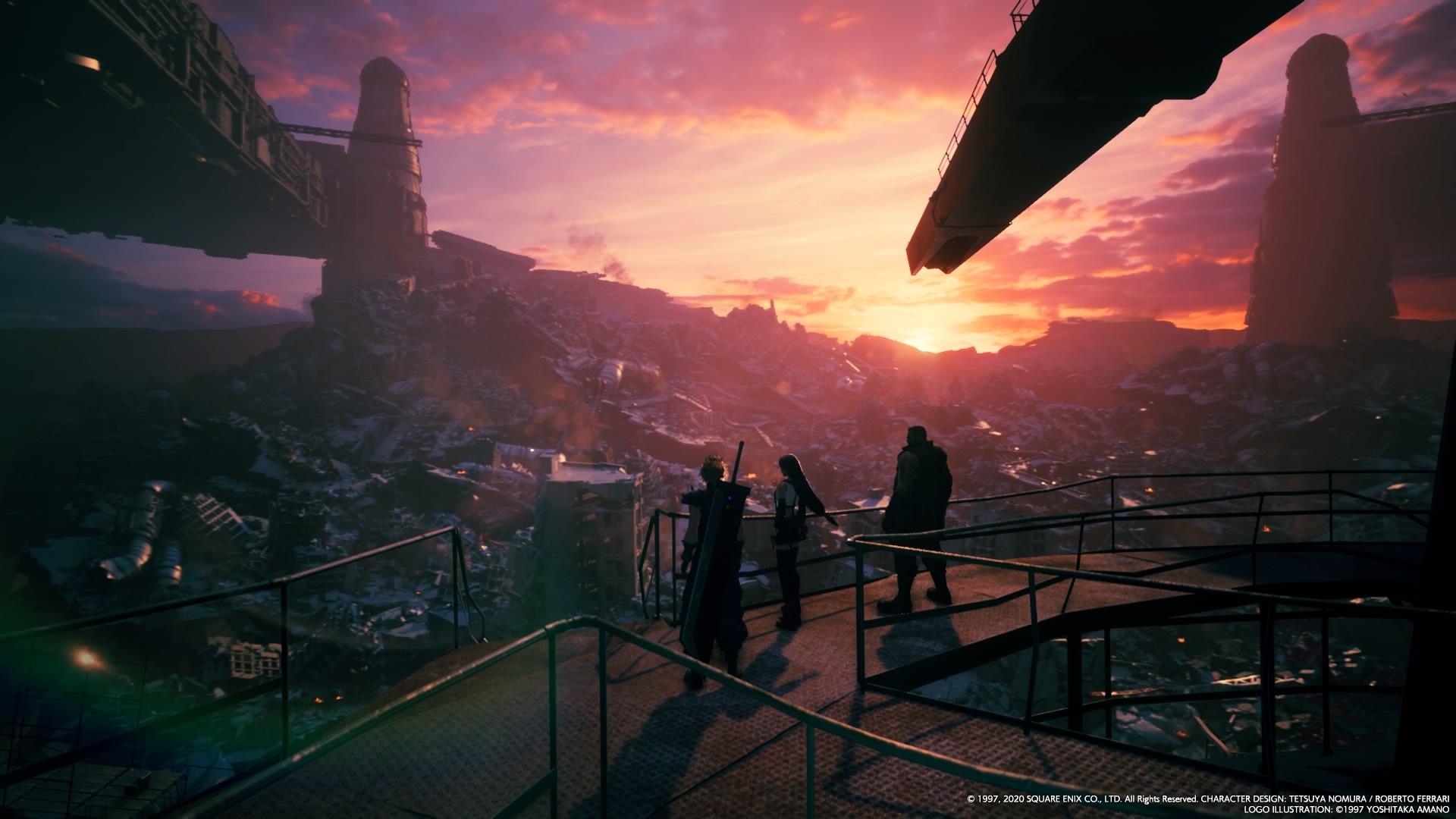 Final Fantasy 7 Remake - A Solemn Sunset over Midgar's Sector 7