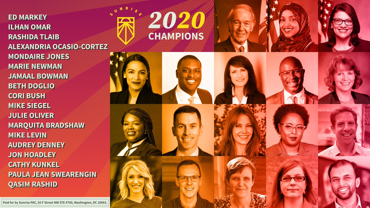 🎉 Meet our 2020 #GreenNewDeal champions! We are going to gain the political power we need to win a green new deal by electing progressive candidates & voting out corrupt politicians. Join us in reaching our goal of making 2.5 million dials before Nov 👉smvmt.org/phonebank