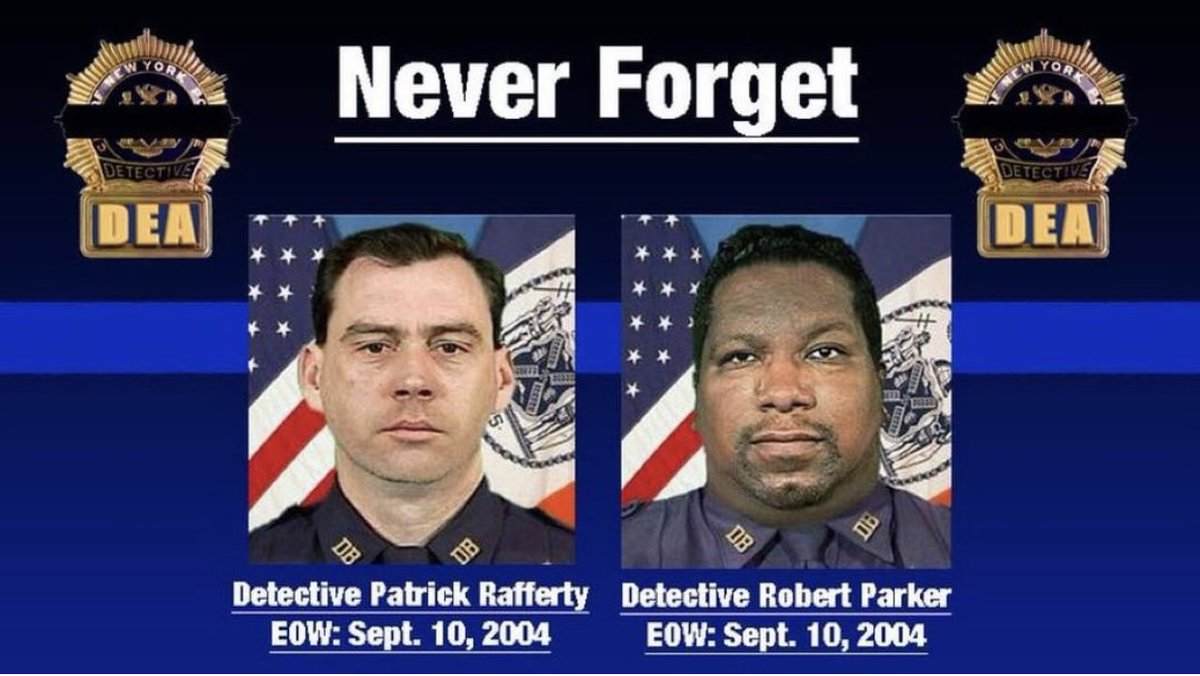 Today marks the 16th Anniversary of when Detectives Parker & Rafferty were taken from us. 16 years ago today, Parker and Rafferty were shot and killed while attempting to arrest a suspect. Today and everyday they are remembered for making the ultimate sacrifice. https://t.co/zpNF839FZw