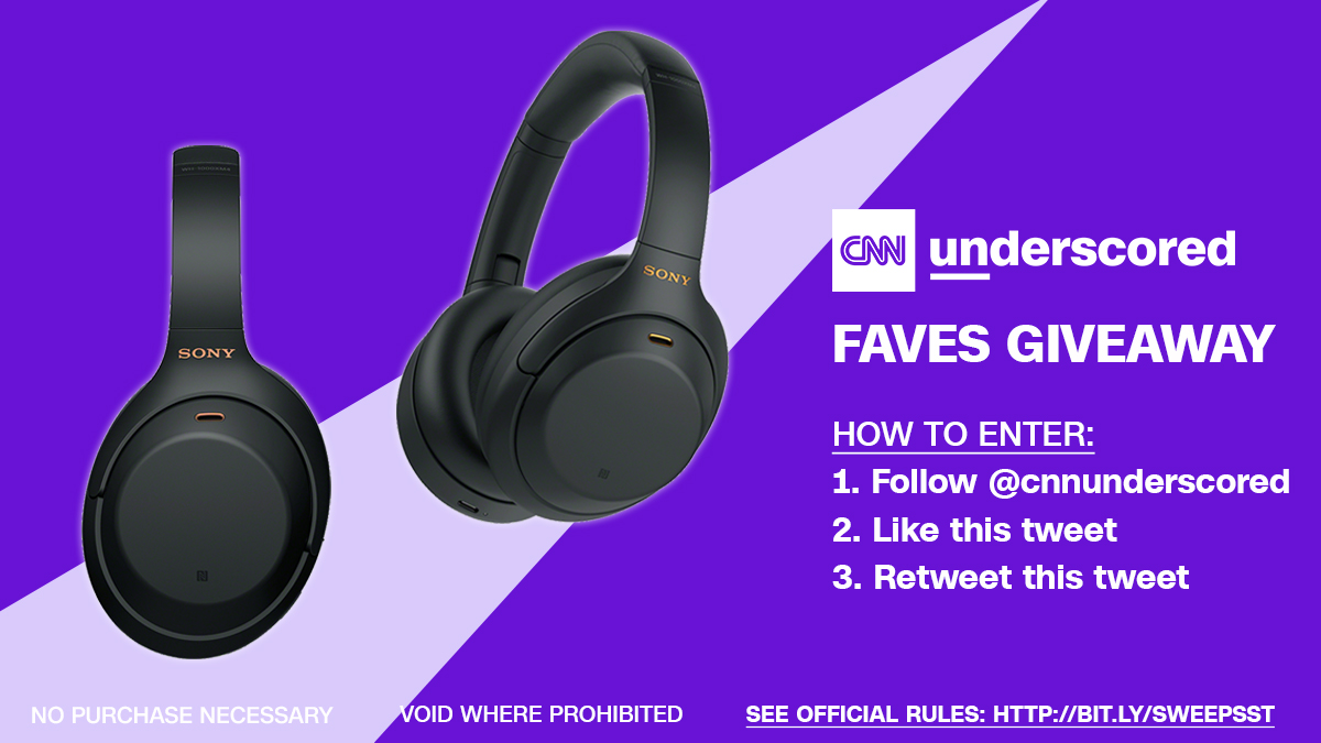 Announcing our next #UnderscoredFavesGiveaway! Retweet this tweet & follow @cnnunderscored for a chance to win a pair of @Sony WH-1000XM4 headphones! Official rules: https://t.co/9PpsdambZ0 https://t.co/PX2W8by4Um