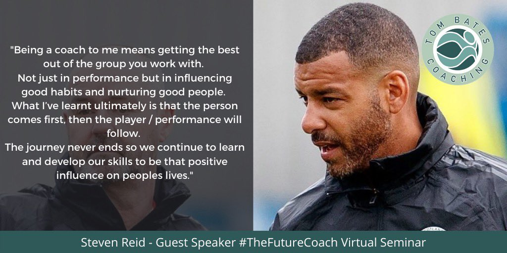 ⚽️ Honoured & Inspired to have  @stevenreid12 present at #TheFutureCoach seminar LIVE via @zoom_us on September 24th 19:00-21:30 GMT  Book your tickets NOW 👉🏼 https://t.co/hhYpWfqZjz ⚽️ https://t.co/O4hQ9uEPpG