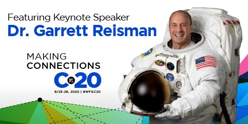We're elated to have keynote speaker Dr. Garrett Reisman joining us for convention! Will you be there? Dr. Reisman is a Professor of Astronautical Engineering at USC and a Senior Advisor at SpaceX. #WFGC20 registration is open to everyone, save your spot https://t.co/HdR88aD2Wo. https://t.co/h4GWMFj5HS