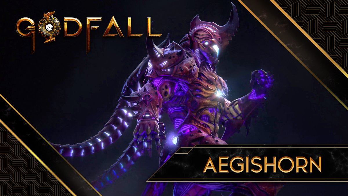 Under the scarab's shell, all creation is shielded. Ascend with Aegishorn in Godfall!
