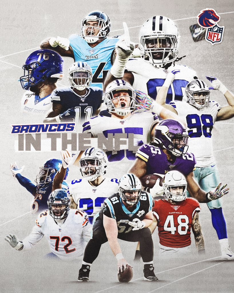 Good luck to our Broncos in the #NFL taking the field this weekend! #BleedBlue