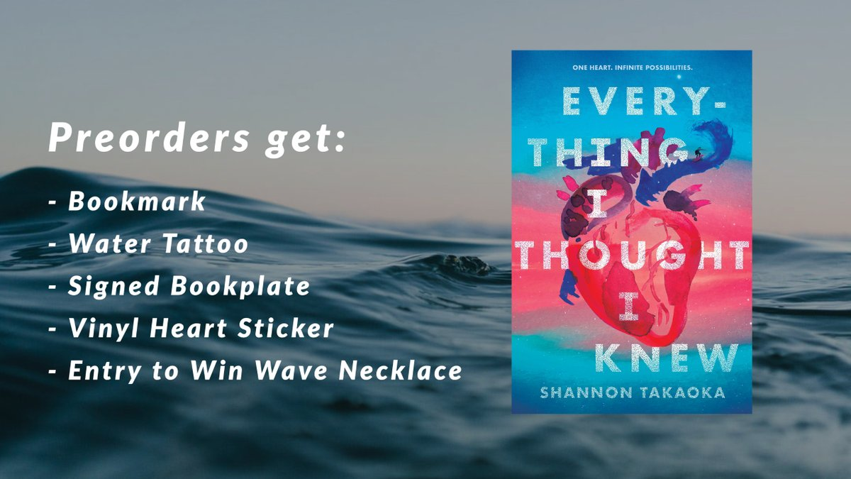 EVERYTHING I THOUGHT I KNEW's Preorder Campaign is here! Between now and 10/13/2020, preorder the book and sign up for the chance to get some fun book swag (see below). Check out this link for the details: shannontakaokawrites.com/preorder
