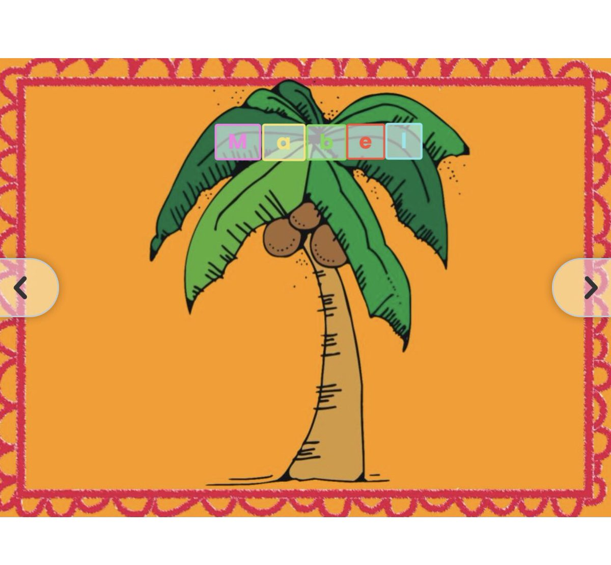 We read Chicka Chicka Boom Boom 🌴 today on our Zoom, then the Ss completed this @Seesaw activity to practice identifying the letters in their names. ☺️ 🥥 https://t.co/5HhCX8eZMA #BPSLearns https://t.co/gg1XekRUXh
