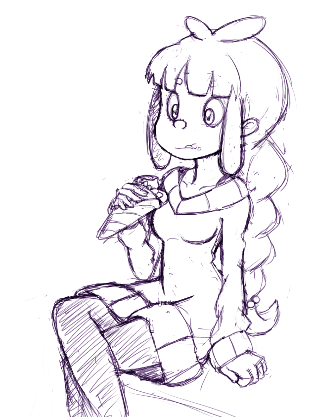 I'm starting to really like drawing older Miette. Might color this one.