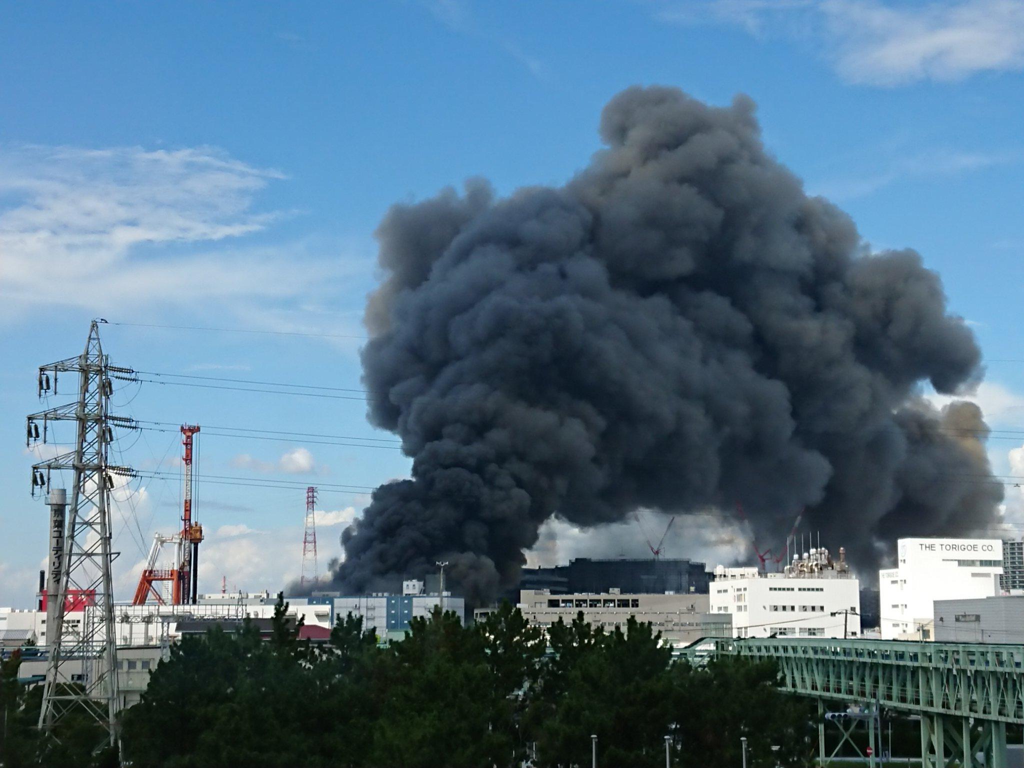 船橋市浜町の大規模火災の画像