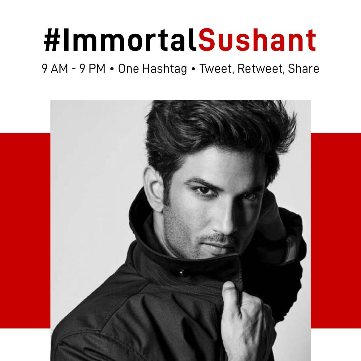 #ImmortalSushant