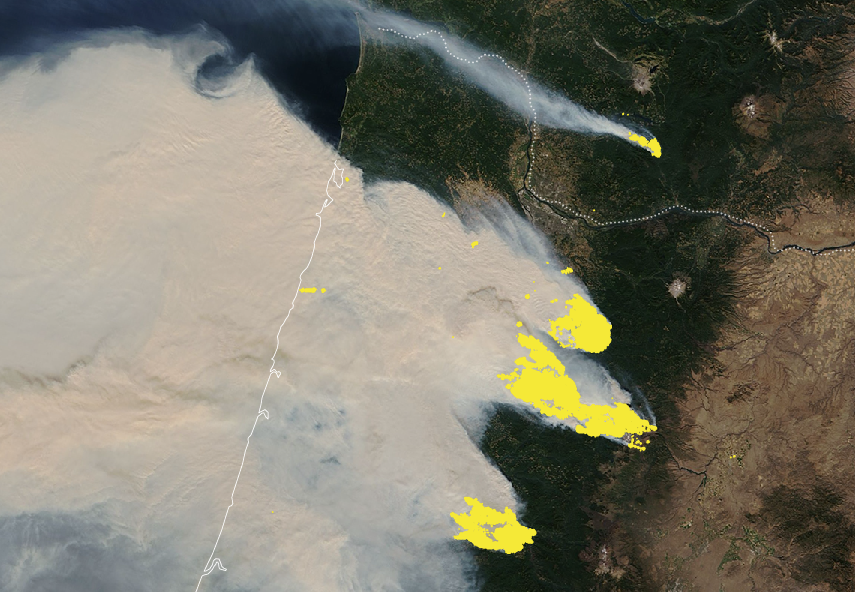 Here's a look at the major #wildfires 🔥 that have wreaked havoc across vast tracts of #California and #Oregon, covering the coast in a blanket of thick smoke. A devastated West Coast 👉 https://t.co/8jO1WTHmvL https://t.co/uUHjihOcZY