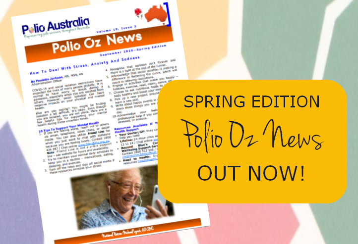 📰 The Spring Edition of Polio Oz News is out! 🗞 https://t.co/FC4yqyoZW4  If you would like to start receiving the newsletter, send us an email at office@polioaustralia.org.au and we will add you to the list!