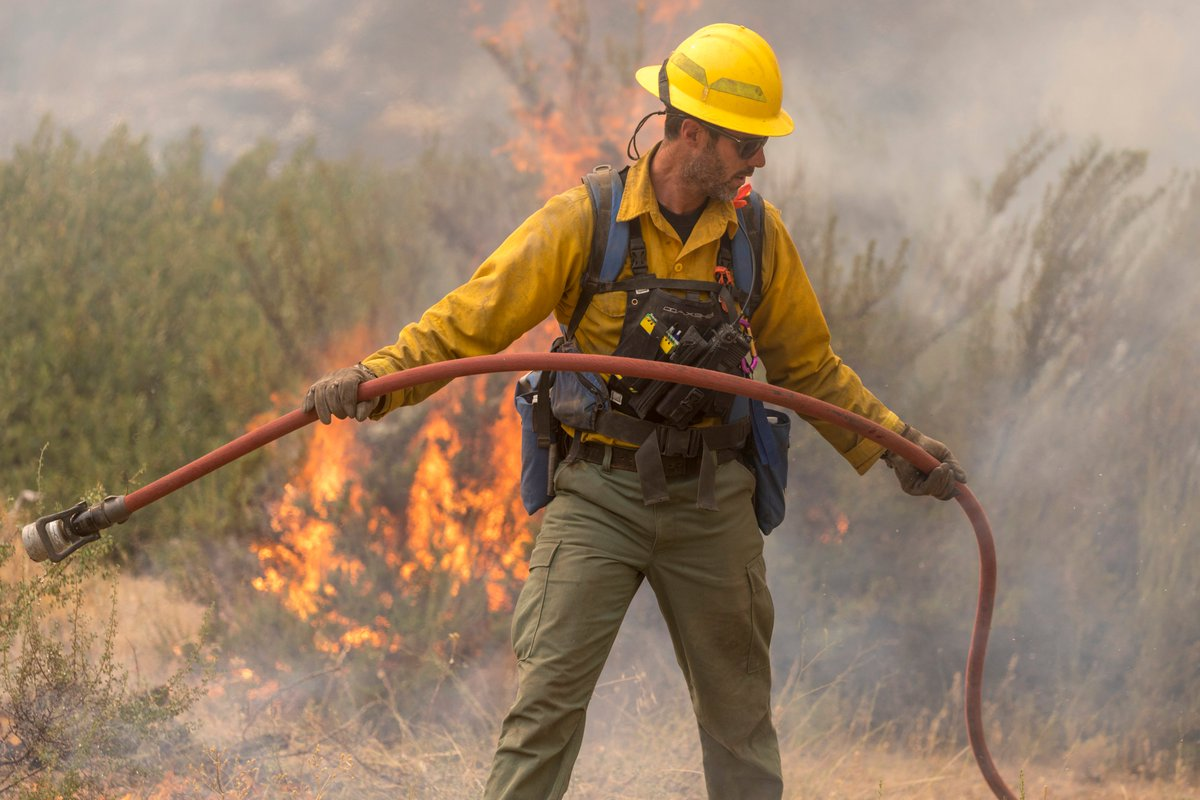 We are always grateful for the firefighters who keep us safe, and especially so this summer.