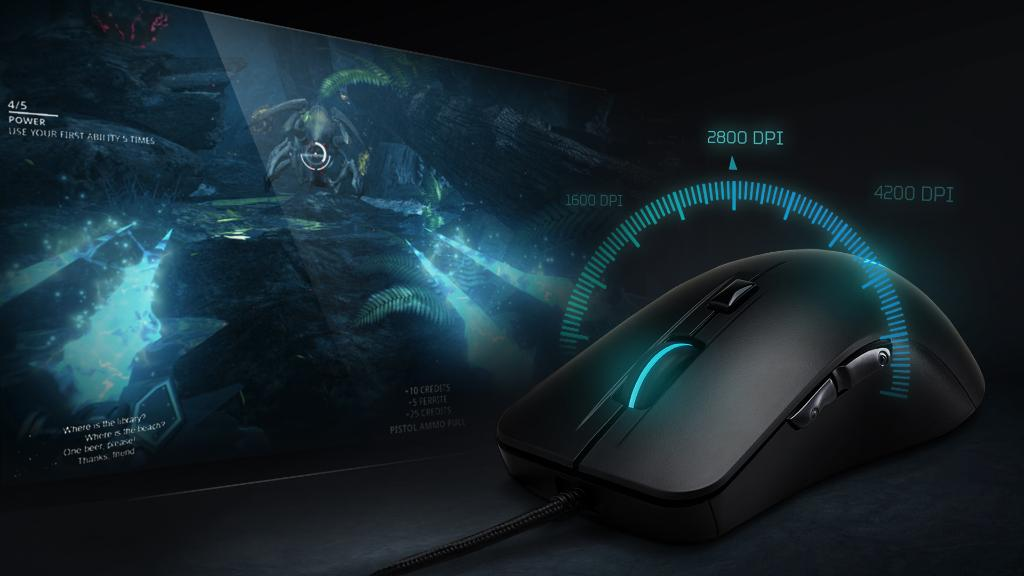 Pick the perfect setting to master your marksmanship and navigate nature with presets up to 4,200 DPI on the #Cestus310 gaming mouse. https://t.co/gPX4GJ6X7y