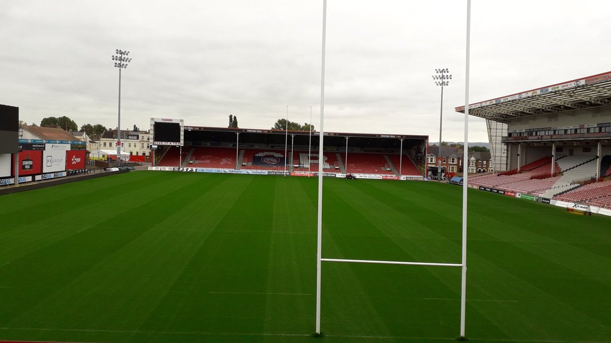 Todays office. Representing @FSCmoreton at the @GlosLiftoff event @gloucesterrugby